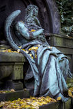 Sculpture of an old weathered arch angel Royalty Free Stock Photo