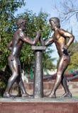 Sculpture Olympians. Sochi, Russia Stock Photos