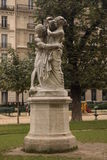 Sculpture. In one hidden park in Paris stock photos