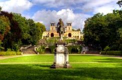 Sculpture and the Orangery Palace (Orangerieschloss) in Park Sanssouci in Potsdam Stock Photography