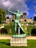 Sculpture and the Orangery Palace (Orangerieschloss) in Park Sanssouci in Potsdam Stock Image