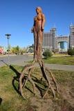 Sculpture of original form in Astana Royalty Free Stock Photos