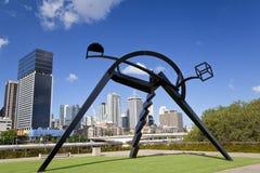 Sculpture outside Gallery of Modern Art, Brisbane. Queensland, Australia Royalty Free Stock Photos