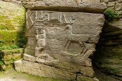 Sculpture païenne en caverne de temple Photo libre de droits