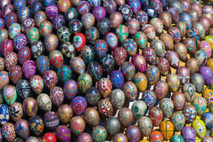 The sculpture of paint Easter eggs Stock Photo