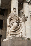 Sculpture from the Palace of the culture Stock Photo