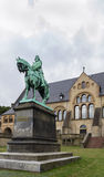 Sculpture about the palace of Goslar, Germany Stock Images