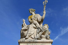 The sculpture in palace of versailles,paris,france Royalty Free Stock Image