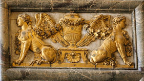 The sculpture in palace of versailles,paris,france Royalty Free Stock Photography