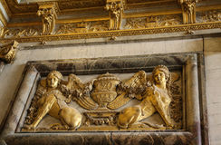 The sculpture in palace of versailles,paris,france Stock Image