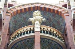 Sculpture at Palau de la Música Catalana, Barcelo Stock Image