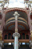 Sculpture at Palau de la Música Catalana Royalty Free Stock Image