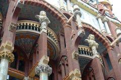 Sculpture at Palau de la Música Catalana Royalty Free Stock Images