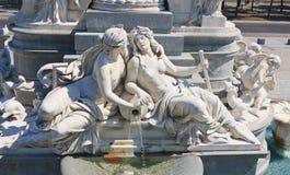 Sculpture of Pallas Athena. Austrian Parliament. Vienna. Austria Royalty Free Stock Photo