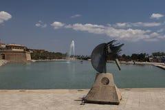 Sculpture. In Palma de Mallorca Royalty Free Stock Photo