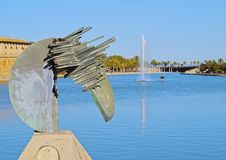 Sculpture in Palma of Majorca Royalty Free Stock Image