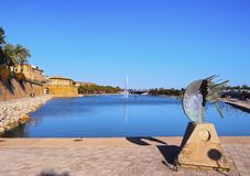 Sculpture in Palma of Majorca Royalty Free Stock Photography