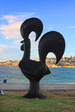 Sculpture par l'objet exposé de mer à l'Australie de Bondi Image stock