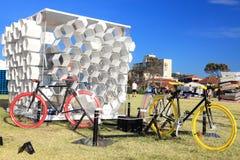 Sculpture par l'objet exposé de mer à l'Australie de Bondi Photo libre de droits