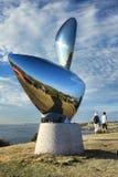 Sculpture par l'objet exposé de mer Images stock