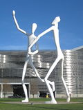 Sculpture Park Denver. The landmark sculpture by Jonathan Borofsky called Dancers is found at Sculpture Park. The towering figures are a familiar landmark in Stock Photos