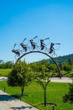 Sculpture in Park in Santiago, Chile Stock Photos