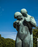 Sculpture in the park. Sculpture was shows the love of her family Stock Photo