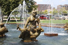 Sculpture part Carl Milles Water Fountain, St. Louis Royalty Free Stock Photos