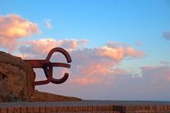 Sculpture Peine de los vientos, Donostia Stock Image