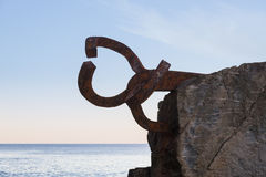 Sculpture Peine de los Vientos. In San Sebastian, Basque Country, Spain Stock Photography