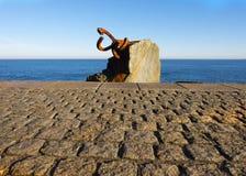 Sculpture `Peine del Viento` in San Sebastian Royalty Free Stock Photos