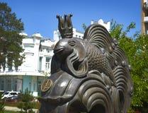 sculpture Peixes do ouro Fotografia de Stock