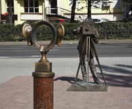 Sculpture of Permyak - the salty ears in Perm. Russia Stock Photo