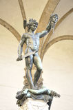 Sculpture of Perseus With The Head of Medusa by Benvenuto Cellin Stock Images