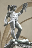 Sculpture of Perseus With The Head of Medusa by Benvenuto Cellin Stock Photos