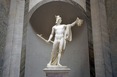 Sculpture of Perseus holding head of the Gorgon Medusa in Vatica. N Museum in Rome Italy Stock Photos