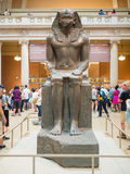 Sculpture of a pharaoh at The Met in New York Stock Images