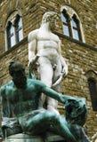 sculpture in piazza della signoria,florence,italy royalty free stock photos
