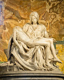 Sculpture of Pieta by Michaelangelo stock photos
