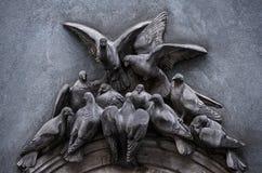 Sculpture pigeons Stock Photography