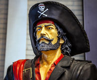 Sculpture of a pirate close-up Royalty Free Stock Images