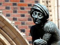 Sculpture in Plac Mariacki Stock Image