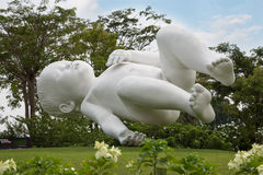 Sculpture Planet by Marc Quinn in Singapore Royalty Free Stock Image