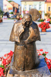Sculpture of Pope John Paul II in the city center of Wadowice Royalty Free Stock Photography