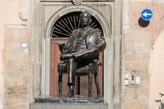 Giacomo Antonio Domenico Michele Secondo Maria Puccini. Sculpture portrait of the famous Italian composer Giacomo Antonio Domenico Michele Secondo Maria Puccini royalty free stock photo