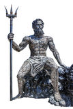 Sculpture poseidon God made from scrap metal on white backgroun Stock Photo