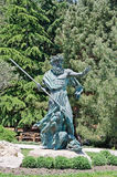Sculpture Poseidon on the waterfront in Partenit Royalty Free Stock Images