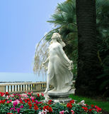 Sculpture Primavera (Spring) on the waterfront in San Remo Royalty Free Stock Image