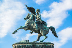 Sculpture of prince Eugene at Hofburg Royalty Free Stock Images