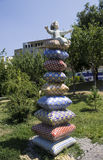 Sculpture The Princess and the Pea , Kiev, summer 2015. Sculpture The Princess and the Pea, Kiev Royalty Free Stock Images